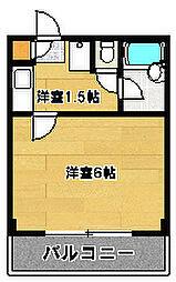 チャーフル[2階]の間取り