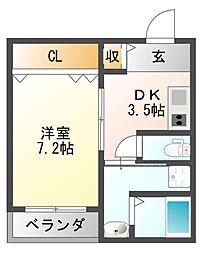 仮称 古市4丁目新築マンション[3階]の間取り