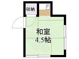 第一高永荘 2階ワンルームの間取り