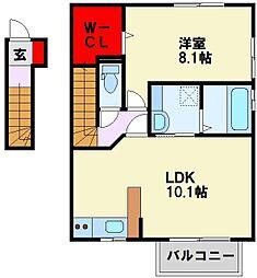 ロイヤル学研台[2階]の間取り