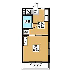 ラッセルコートB[3階]の間取り