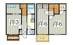 テラスさちII[1階]の間取り