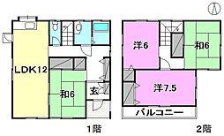 [一戸建] 愛媛県松山市南久米町 の賃貸【愛媛県 / 松山市】の間取り