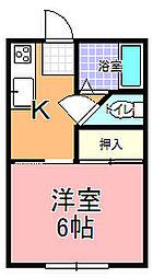 姫子ハイツ[101号室]の間取り