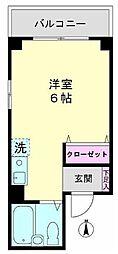 東京都墨田区両国4丁目の賃貸マンションの間取り