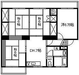 第1高橋マンション[205号室]の間取り