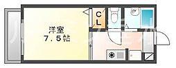 兵庫県神戸市垂水区千代が丘2丁目の賃貸アパートの間取り