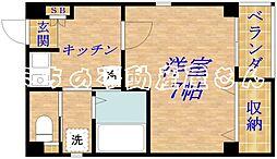 プライムコート清水[4階]の間取り