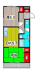 木曽呂ハイツA[1階]の間取り