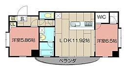 サンシャインII[804号室]の間取り