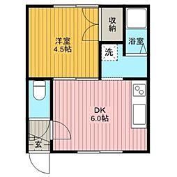 北海道江別市文京台南町の賃貸アパートの間取り