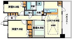 千里中央プライムステージ[2階]の間取り