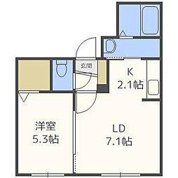 maison de neije[1階]の間取り