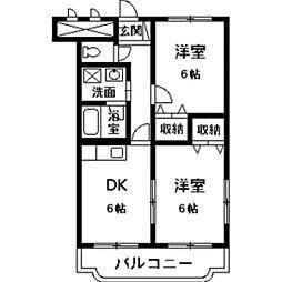 ベルサージュ21[1階]の間取り