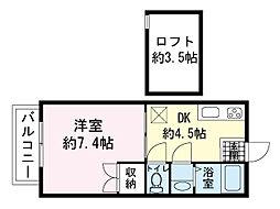 T・Kコーポ[2階]の間取り
