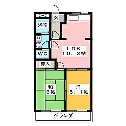 メゾンセフティー山宮[1階]の間取り