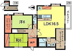 [テラスハウス] 東京都中野区大和町3丁目 の賃貸【/】の間取り