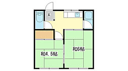 みやび荘[2号室]の間取り