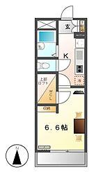 レオパレス名楽[4階]の間取り