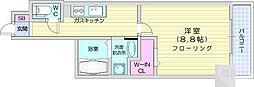 レガーロ仙台駅東 9階1Kの間取り