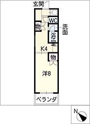 アネックス松寺[1階]の間取り