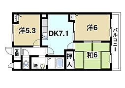 グランシャリオ桜井[2階]の間取り