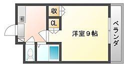 岡山県岡山市中区さいの賃貸マンションの間取り