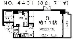 ル・パピヨンDX[3階]の間取り