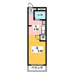 アメニティS・T・M[4階]の間取り