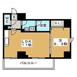 リベール西片 4階1LDKの間取り