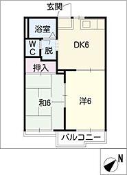 コーポ藤塚[2階]の間取り