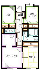 JR中央本線 吉祥寺駅 バス23分 杏林大学病院前下車 徒歩5分の賃貸マンション 1階3LDKの間取り