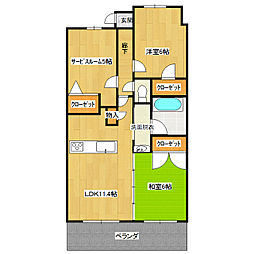 レヴィールひたち野フロントステージ202号室[2階]の間取り
