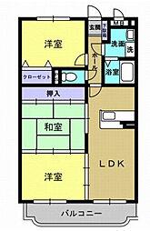 リバティハウス西築地[1階]の間取り