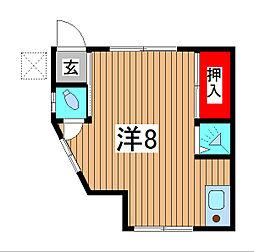 冨田荘[101号室]の間取り