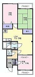 第7ワイエスハイツ[2階]の間取り