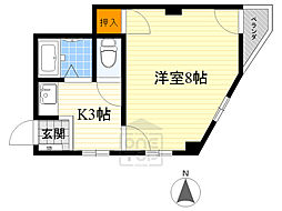 関目井上ビル2階Fの間取り画像
