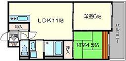 ハイツ寿見礼[6階]の間取り