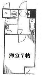 東京都渋谷区道玄坂2丁目の賃貸マンションの間取り