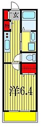 moderno宮本[2階]の間取り