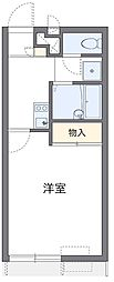 西武新宿線 狭山市駅 バス15分 土橋下車 徒歩4分の賃貸アパート 1階1Kの間取り