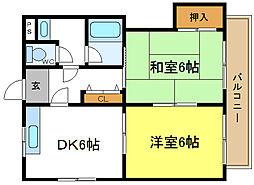 安尾ビル[3階]の間取り