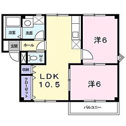 プラドール[2階]の間取り