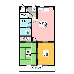 バンクビル[3階]の間取り