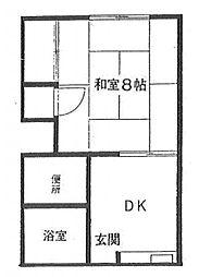 第6小島荘[2階]の間取り