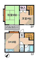 [テラスハウス] 神奈川県横浜市港北区高田西5丁目 の賃貸【/】の間取り