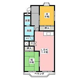 アメニティハウス[3階]の間取り