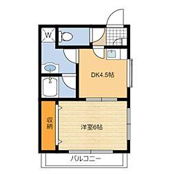 静岡県静岡市葵区安西2丁目の賃貸マンションの間取り