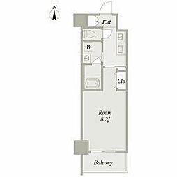 名古屋市営鶴舞線 浅間町駅 徒歩7分の賃貸マンション 4階1Kの間取り