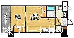 ロイヤル天神東[4階]の間取り